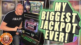 My BIGGEST JACKPOT EVER on Island Eyes! •️•Never Seen on YouTube! | The Big Jackpot