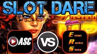 •SLOT DARE!• $100 SLOT MACHINE CHALLENGE (ASC VS. EmanRocknSlots) | LIGHT EM UP (Ainsworth)