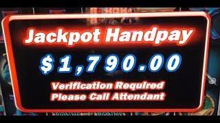 JACKPOT HAND PAY • $40 BET BONUS on HIGH LIMIT DIAMOND QUEEN Slot Machine BIG WIN Video