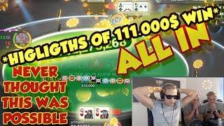 MY BIGGEST POKER WIN EVER OVER 100.000$ (Poker Highlights from Live Stream)