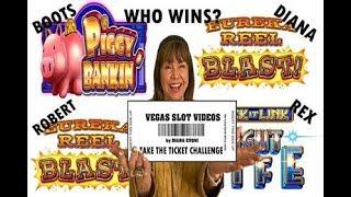 TAKE THAT TICKET CHALLENGE!  WHO WINS?