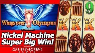 Wings Over Olympus Slot - Super Big Win, Nickel Denomination