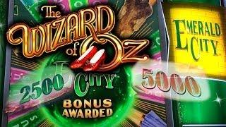BIG WIN! The Wizard of Oz Emerald City Slot Machine Bonus Emerald City Pick Bonus