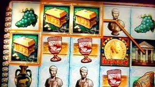 BIG WINS + 3 Bonuses + Live Trigger on Roman Dynasty Slots - 5c
