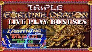 • LIVE PLAY • BONUS • 2X RETRIGGER • BIG WIN • TRIPLE FORTUNE DRAGON SLOT MACHINE