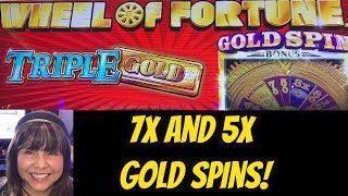 WINNNING! TRIPLE GOLD WHEEL OF FORTUNE