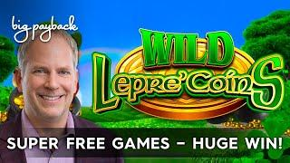 INCREDIBLE LUCK! Wonder 4 Spinning Fortunes Wild Lepre'Coins Slot - HUGE WIN!