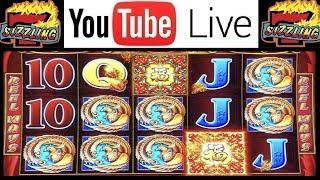 100x BIG BONUS WIN! 5 TREASURES MACHINE! Sizzling Slot Jackpots Casino LIVE Videos