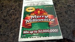 $20 Merry Millionaire Scratch Off Book. Enter Our Free Contest To Win Scratch Offs, Part 1.