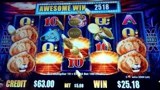 Sunset King Slot Machine *AWESOME WIN* $5 Max Bet Live Play & Second Chance Super Feature Bonus!