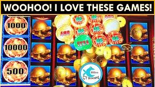 I LOVE THIS GAME! Rising Fortunes Slot Machine! w/Winning streak on Lightning Link! Yay!