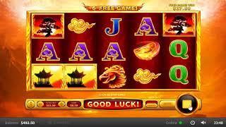 Flaming Phoenix slots - 282 win!