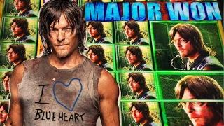 •DARYL DELIVERS! MAJOR JACKPOT• The WALKING DEAD 2 slot machine BONUS and BIG WINS!