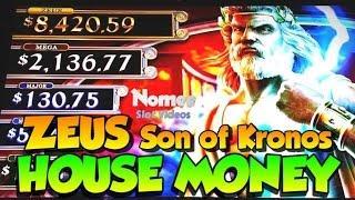 HOUSE MONEY! - ZEUS Son of Kronos Slot Machine - Long Play!