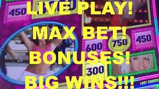 BIG WINS!!! LIVE PLAY on Britney Slot Machine with Bonuses