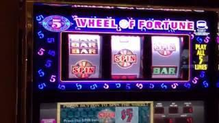 High Limit $25 Wheel of Fortune Gameplay and Spin