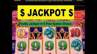 •JACKPOT !•Finally Jackpot in 6 Free games Choice !  Fortune King Deluxe Slot machine Even $1.80 Bet