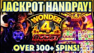 •JACKPOT HANDPAY! EXTREME FREE GAMES!!• OVER 300+ SPINS • WONDER 4 BOOST BUFFALO Slot Machine