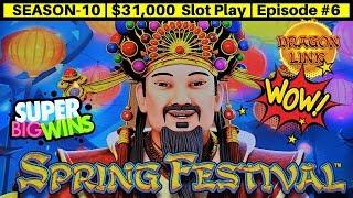 High Limit Dragon Link Slot Machine BIG WIN & Mighty Cash Double Up | Season 10 | Episode #6