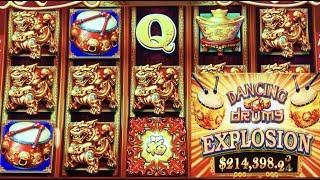 •YES ! BETTER THAN A JACKPOT•DANCING DRUMS EXPLOSION Slot $185 Free Play Live $5.88 Bet•San Manuel