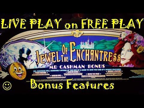 ~LIVE PLAY on FREE PLAY~ Jewel of the Enchantress | MAX BET | Slot Machine Bonus