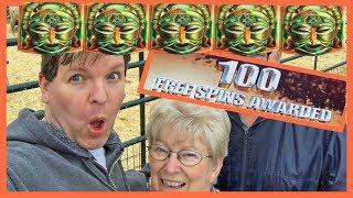 BRENT & MOM GET ALL 5 BONUS SYMBOLS! 100 SPINS!! AWESOME 300x/400x/500x/MORE WIN?!?!!!!