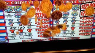 Triple Star Slot Jackpot, Triple Star High Limit Jackpot, Triple Double Star Jackpot,  $36,000