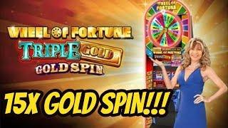 15X GOLD SPIN ON WHEEL OF FORTUNE TRIPLE GOLD-$10 BET
