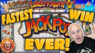 •JACKPOT CAME OUT OF NOWHERE!! •Fast Jackpot on Lobstermania! | The Big Jackpot