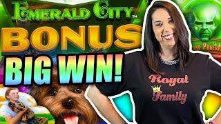 BIG WIN ON THE NEW WIZARD OF OZ SLOT MACHINE !!  QUICK HITS AND FARMVILLE !