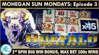 AWESOME BIG WINS! Buffalo Moon Slot Machine - Big Multipliers on MOHEGAN SUN MONDAYS!