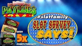 • GAME SHOW LIVE! • SLOT SURVEY... SAYS! • DOCKFAM SLOT VIDEOS vs - THE BINGO KING •