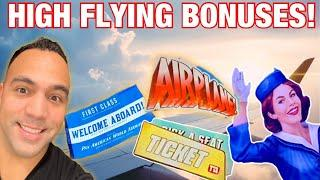 ⋆ Slots ⋆️ WINNING! First Class Tickets on Mighty Cash PAN AM & AIRPLANE Slot Machines!! ⋆ Slots ⋆ ⋆ Slots ⋆