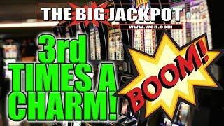 Third time is a charm Live Slot Play