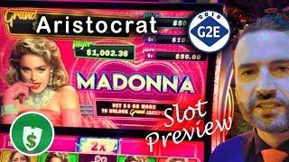 #G2E2018 Aristocrat - Madonna, New Walking Dead, Really Wicked Winnings slot machines