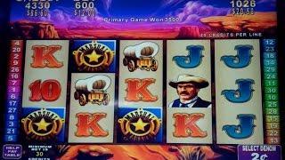 Rawhide Slot Machine $12 Max Bet *AS IT HAPPENS* Coin Show Bonus!