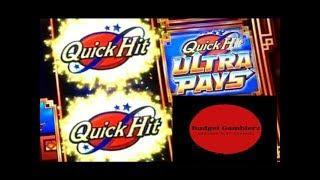 BUFFALO GOLD / QUICK HIT ULTRA PAYS ~ Free Spin Bonus ~ Nice Win ~ Live Slot Play @ San Manuel