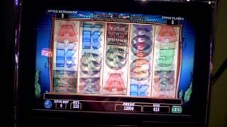 Slot machine bonus on Fish in a Barrel at Bally's Casino in Atlantic City, NJ