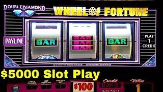 $5000 Live Play on Slots | $100 Wheel Of Fortune | High Limit Piggy Bankin Slot & More |