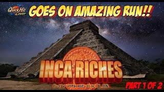 Aristocrat Classic Inca Riches Slot Bonuses BIG Wins Part 1