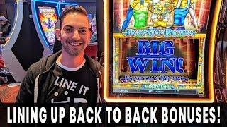 • BIG WIN on BACK UP SPIN • Back to Back Wins on Egyptian Riches
