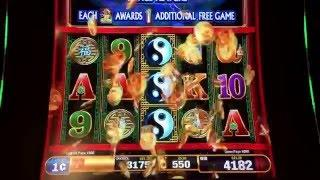 DRAGON RISING Max Bet Casino Live Play Bonus 14,750 unit payout Las Vegas Casino Slot Machine Action