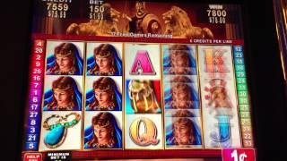 Roman Tribune Konami slot machine bonus win