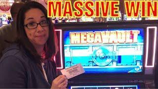 MASSIVE WIN ON MEGA VAULT * MUST SEE! * BUFFALO GOLD WONDER 4 BONUSES !!!!!