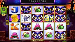 MISS KITTY BOO! Video Slot Casino Game with a FREE SPIN BONUS