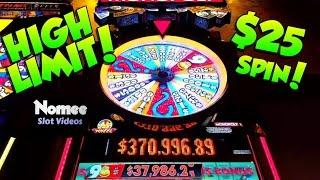 HIGH LIMIT - MONOPOLY MONEY Slot Machine - $25 a Spin!! •