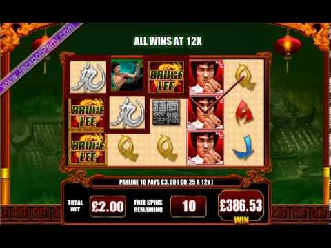 £897.70 ON BRUCE LEE - DRAGON'S TALE™ SUPER BIG WIN (449 X STAKE) - SLOTS AT JACKPOT PARTY