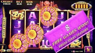 Gold Stack Slot Machine $6.80 Max Bet Bonus Won   Gold Dragon Red Dragon 1st Attempt