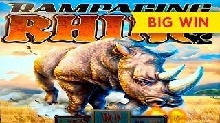 GREAT SESSION! Rampaging Rhino Slot - BIG WIN BONUS!