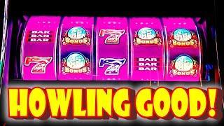 I TRICKED MYSELF!!! * ANOTHER HOWLING GOOD DECISION!! - Las Vegas Casino Slot Machine VLR Bonus Win